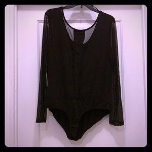 Plus Size bodysuit- Black